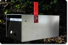 ikea mailbox in seplace of a modern mailbox