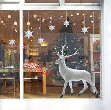 decorie lovely white christmas deer wall sticker for window home decorie lovely white christmas deer wall sticker for window home decor 60x90cm amazon co uk kitchen home
