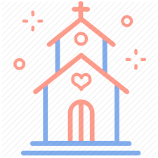 Marriage Planner Building Church Love Marriage Planner Venue Wedding Icon