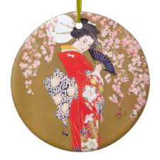cherry blossom ornaments keepsake ornaments zazzle