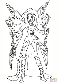 winx club aurora coloring free printable coloring pages