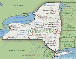 map of new york ny ny state map