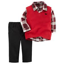 boy s plaid shirt sweater vest set