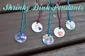 shrinky dink pendants tutorial s day clumsy crafter