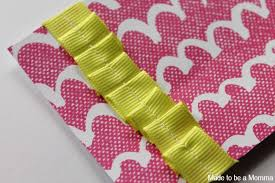 ruffled ribbon ruffled gift card holder made to be a momma
