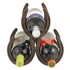 lucky horseshoe 3 bottle wine storage rack foster u0026 rye by true