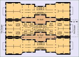 Tenement Floor Plan by Late 19c Urbanization