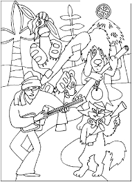 bremen town musicians coloring page coloring home