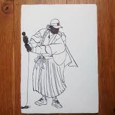 microphone samurai sketch u2013 reuben dangoor