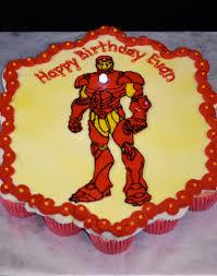 iron man cupcake cake with light bertha quichocho ross flickr