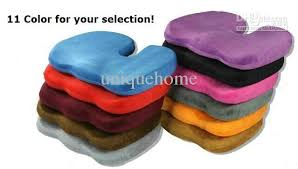 Orthopaedic Seat Cushion Deluxe Orthopedic Seat Solution Cushion Memory Foam Back Ache Pain