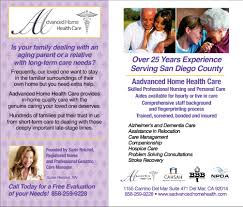 Home Quality Care by Over 25 Years Experience Serving San Diego County Advanced Home