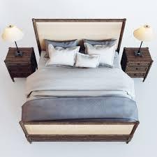 restoration hardware louis xvi treillage bed 3d model max obj fbx