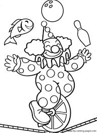 Clown Coloring Pages Printable clown coloring pages printable circus coloring book plus printabl on