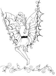 elves and fairies colouring pages