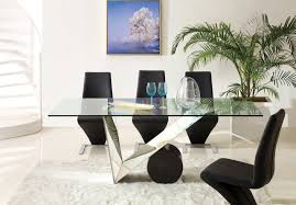 Dining Sets With Glass Top Dt630 Dining Table W Glass Top By Pantek With Optional Chairs