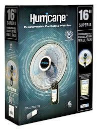 decorative wall mounted oscillating fans amazon com hurricane super 8 oscillating digital wall mount fan