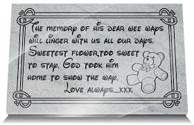 memorial gifts for loss of memorial gifts loss grandchild with teddy and memorial verse