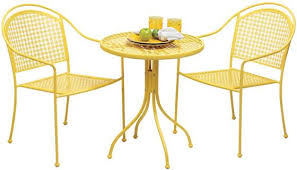 Patio Bistro Table Enchanting Yellow Bistro Table With Patio Astonishing Patio Bistro