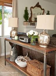 Sofa Console Table I Like The Two Lamps Behind The Sofa U2026 And Then Maybe Move The