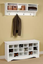 Wall Mounted Bedroom Storage Unit White Hallway Storage Furniture Descargas Mundiales Com