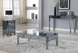 mirrored end table set mirrored coffee table set writehookstudio com