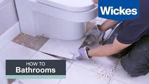 Tiling The Bathroom Floor - how to tile around a toilet with wickes youtube