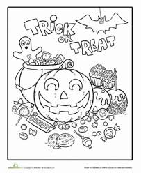halloween candy coloring kindergarten holidays