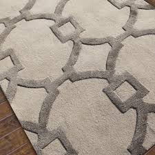 Silk Shag Rug Contemporary Fretwork Plush Wool Rug Plush Rust And Display