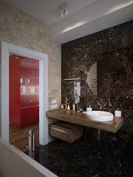dark dramatic bathroom scheme interior design ideas