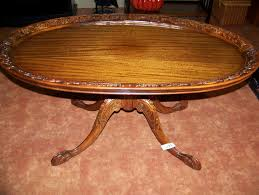 antique coffee table with claw feet