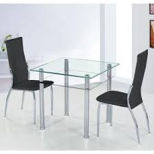 glass dining room table set glass dining table and 4 chairs uk furniture in fashion