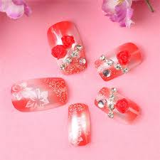wholesale japan style fasle nails girls bride hand made 3d carving