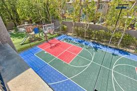 Backyard Pool And Basketball Court Designers Add Classic Architectural Flair To Palisades Las Vegas