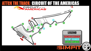 Road America Track Map by Attack The Track Circuit Of The Americas By The Simpit Youtube