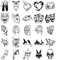 set of different tribal tattoo designs photos pictures and