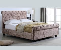 Fabric Sleigh Bed Wooden Leather Sleigh Beds Bed Frames Beds Direct Uk