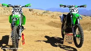 motocross action 450 shootout sean collier s kx500 versus kx450 with motocross action magazine