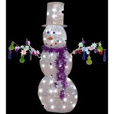 Christmas Outdoor Decor At Home Depot by Gemmy 43 In W X 13 In D X 47 In H Pre Lit Jeweled Crystal