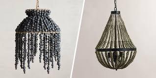 bead chandelier 8 best beaded chandeliers 2017 beautiful wood chandeliers with