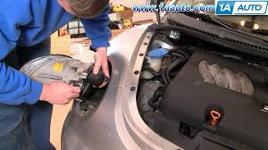 how to install replace headlight and bulb volkswagen beetle 98 05