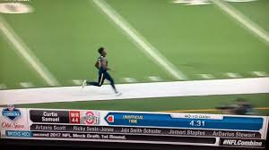 Nfl Combine Wr Bench Press Video Curtis Samuel Rips Off 4 31 Second 40 Yard Dash At Nfl
