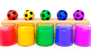 learn colors children soccer ball learning videos