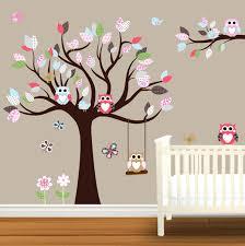 Wooden Nursery Decor Wall Nursery Decals Baby Nursery Decor Wooden Tree Baby Nursery
