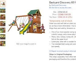 Amazon Backyard Playsets by Backyard Discovery 65114 Oakmont All Cedar Playset Swing Set