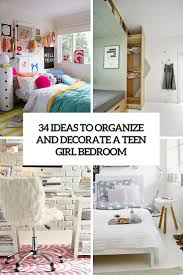Ideas To Decorate Home 34 Ideas To Organize And Decorate A Teen Bedroom Digsdigs