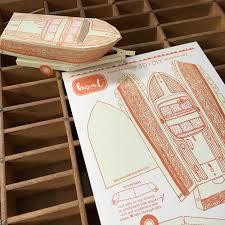 diy letterpress letterpress boat 3d diy card blackbird letterpress