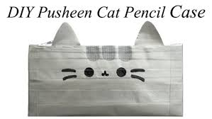 how to make pusheen cat pencil case tutorial duct tape youtube