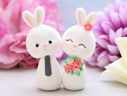 and groom figurines custom bunny wedding cake toppers and groom figurines