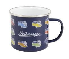 vw collection by brisa boxed blue enamel campervan mug